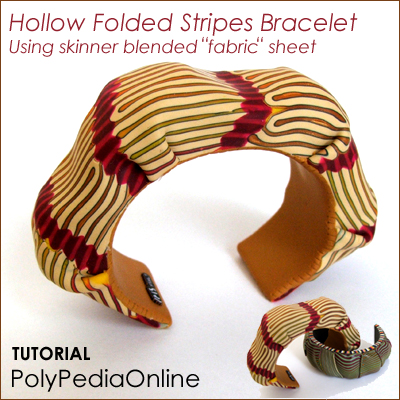 polypediaonline - polymer clay hollow folded bracelet tutorial