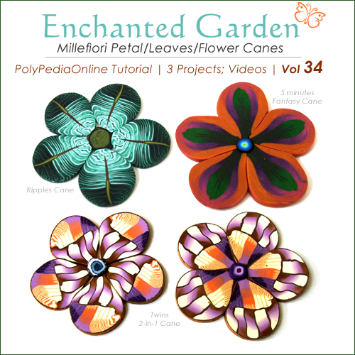 polymer clay tutorials leaves canes