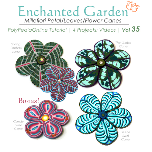enchanted garden leaves polymer clay tutorial