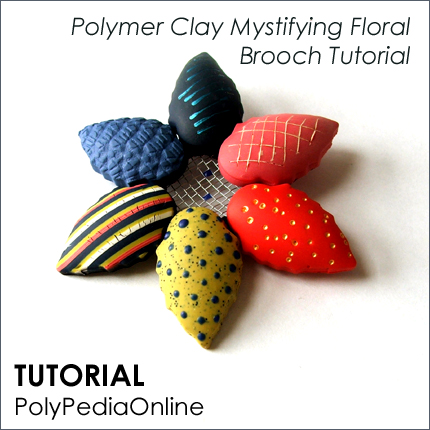polymer clay tutorial polypediaonline millefiori  floral brooch