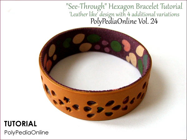 polypediaonline gold bracelet see through tutorial polymer clay