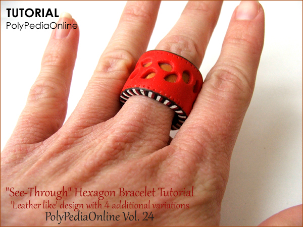 polypediaonline ring bracelet see through tutorial polymer clay