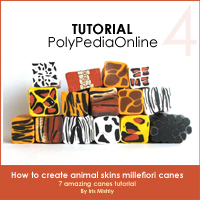 polymer clay tutorial polypediaonline millefiori  animal pronts canes