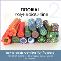 polymer clay tutorial polypediaonline millefiori  center canes