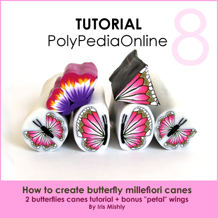 polymer clay tutorial polypediaonline millefiori  butterflies canes