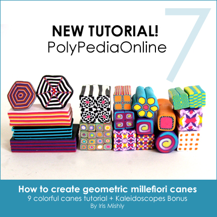 polymer clay tutorial polypediaonline millefiori  geometric canes