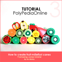 polymer clay tutorial polypediaonline millefiori  fruit canes