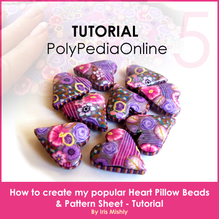 polymer clay tutorial polypediaonline millefiori  heart pillow beads