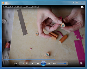 polypediaonline millefiori tutorial video flowers
