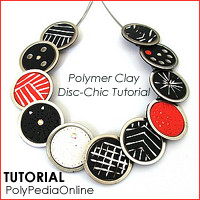 polymer clay tutorial polypediaonline millefiori  disc chic