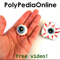 polymer clay tutorial halloween eyeball project ring