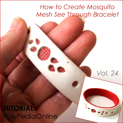 mosquito technique jewelry polymer clay tutorials