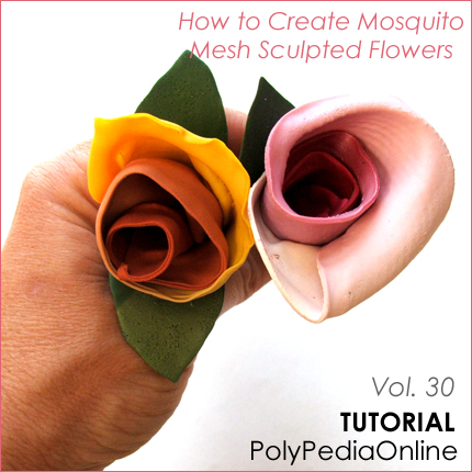 polymer clay tutorials mesh jewelry mosqtuito