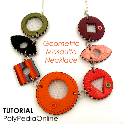 polymer clay tutorial polypediaonline millefiori  mosquito necklace