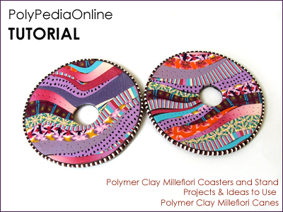 polymer clay tutorial polypediaonline millefiori  coasters