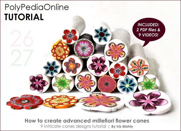 polypediaonline millefiori polymer clay tutorials flowers