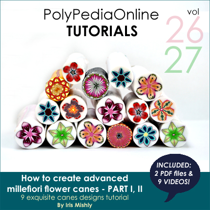 polypediaonline polymer clay tutorials millefiori flower