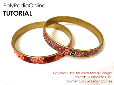 polymer clay tutorial polypediaonline millefiori  bangles