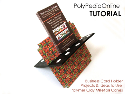 polymer clay tutorial polypediaonline millefiori  business card holder
