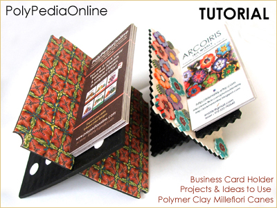 polypediaonline millefiori tutorials business card holder