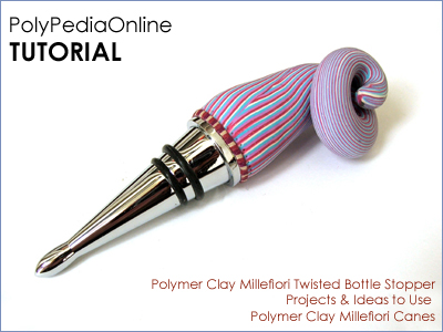 polymer clay tutorial polypediaonline millefiori  bottle stopper