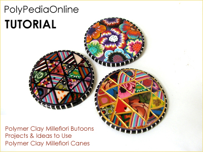 polymer clay tutorial polypediaonline millefiori buttons