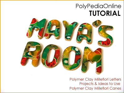 polymer clay tutorial polypediaonline millefiori  letters