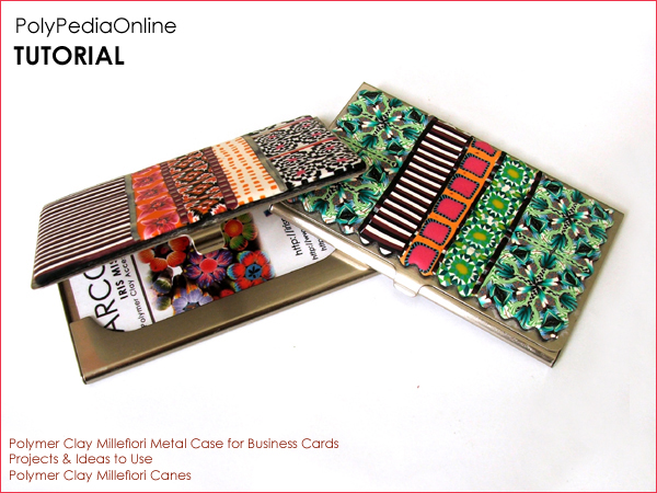 polypediaonline polymer clay tutorials millefiori canes business card