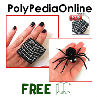 polypediaonline polymer clay tutorials spider ring and magnet halloween project